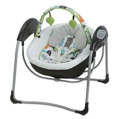 Graco Glider Lite Portable Gliding Baby Swing, Multicolor