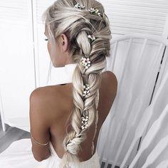 40 top hairstyles for blondes - Neueste Frisuren Haar 2018 - Wedding Hairstyles Top Hairstyles, Pretty Hairstyles, Braided Hairstyles, Wedding Hairstyles, Hairstyle Ideas, Feathered Hairstyles, Medium Hairstyles, Everyday Hairstyles, Hairstyle Braid