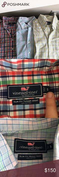 Vineyard Vines - 3 men's slim fit wovens Gently used Vineyard Vines Shirts Casual Button Down Shirts