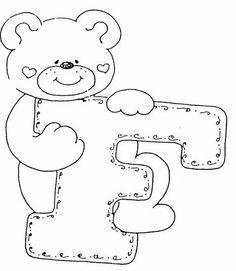 letrinhas com ursinhos
