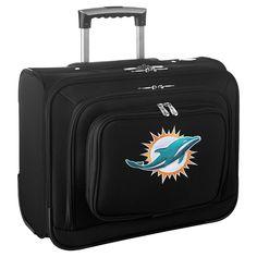 NFL Miami Dolphins Mojo Wheeled Laptop Overnighter Bag