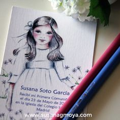 RECORDATORIO 11 Christmas Cards, Female, Communion, Ideas Para, Drawing For Kids, Paper Envelopes, Water Colors, Christmas E Cards, Community