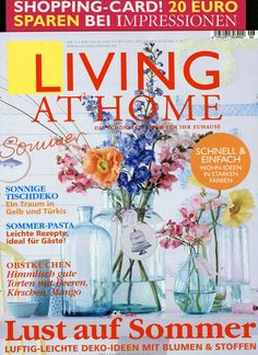 Living at Home Ausgabe Living At Home, Live, Books, Light Recipes, Decorating Ideas, Homes, Libros, Book, Book Illustrations
