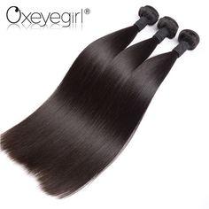 "Straight Peruvian Hair Weave Bundles Human Hair Bundles 10""-28"" Double Weft Hair Weaving  Black Color 1pc"