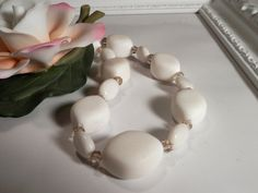 Stone White Quartzite Necklace by houseofTROCK on Etsy