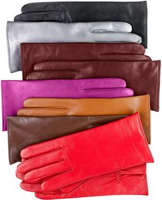 Charter Club Cashmere Lined Leather Gloves