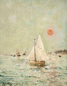 MarineLe Havre Alfred Stevens. Belgian Painter, 1823-1906