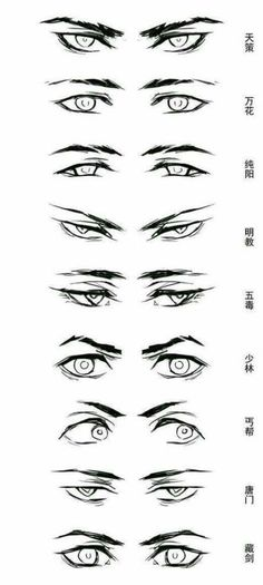 Enjoy a collection of references for Character Design: Eyes Anatomy. The collect. - Enjoy a collection of references for Character Design: Eyes Anatomy. The collection contains illust - Drawing Eyes, Guy Drawing, Figure Drawing, Drawing Men Face, Drawings Of Eyes, Anime Boy Drawing, Cool Eye Drawings, Drawing Face Shapes, Cute Boy Drawing