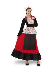 El disfraz de holandesa para mujer, incluye Sombrero y vestido. en DisfracesMimo.com