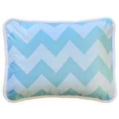 New Arrivals Zig Zag Throw Pillow in Aqua FREE SHIPPING - $54.00