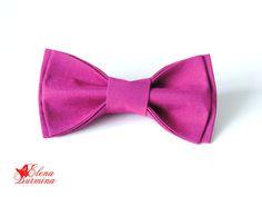 Купить Бабочка галстук лиловая, хлопок - брусничный, однотонный, бабочка-галстук, галстук бабочка женский