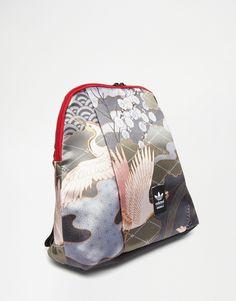 Mochila con estampado de ppájaros Rita Ora de adidas Originals