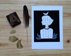 Collage print. Illustration. Reproduction print on Etsy, $10.00