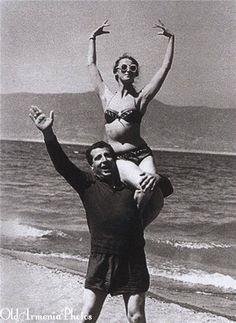 Арно Бабаджанян и знаменитая балетная танцовщица Майя Плисецкая в Севане