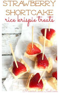 Strawberry Shortcake Rice Krispies Treats Recipe