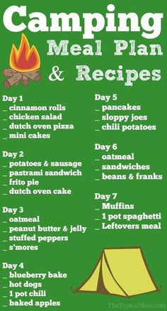 Easy camping recipes and meal planning printable to help you plan what to eat when you're camping! Lots to choose from and so helpful using just a campfire. * You can find out more details at the link of the image.#rvliving #rvlife #camping #bobscottrvs #colorado