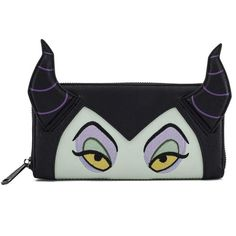 Show off your favorite Disney villain with this Malificent faux leather zip around wallet from Loungefly. Sleeping Beauty Maleficent, Disney Maleficent, Disney Villains, Disney Handbags, Disney Purse, Faux Leather Backpack, Leather Wallet, Geeks, Disney Brands
