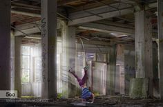 Dance like no one is watching - Pinned by Mak Khalaf - Fine Art breakdancebreakerdancedudefactoryguyindoorislightlightbeamlikemalemanmodelnoonestreeturbanurbexwatchingyoung by evanturennout