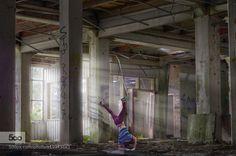 Dance like no one is watching - Pinned by Mak Khalaf - Fine Art breakdancebreakerdancedudefactoryguyindoorislightlightbeamlikemalemanmodelnoonestreeturbanurbexwatchingyoung by evanturennout