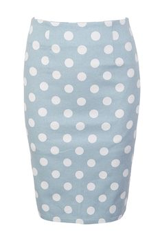 Polka Dots Pencil Skirt