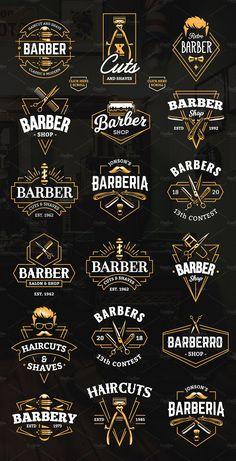 Barber Emblems Logo Templates - Barber Emblems Logo Templates Informations About Barber Emblems Logo - Barber Shop Interior, Barber Shop Decor, Salon Interior Design, Beauty Salon Interior, Barber Tattoo, Barber Logo, Andrea Barber, Emblem Logo, Shave Shop