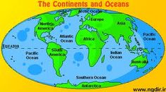 Map Of 7 Continents And 5 Oceans