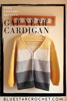 free crochet cardigan pattern for an easy crochet cardigan. this crochet sweater has open front. it uses cotton yarn so it is perfect for all weather seasons. #freecrochetcardiganpattern #openfrontcardigan All Free Crochet, Double Crochet, Single Crochet, Easy Crochet, Crochet Gloves, Crochet Hooks, Crochet Sweaters, Crochet Cardigan Pattern, Crochet Patterns