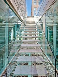 Glass staircase in A