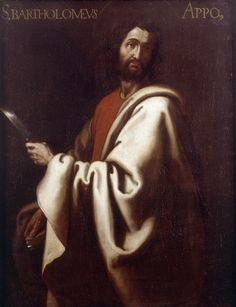 """Saint Bartholomew the Apostle / San Bartolomé // By Gregorio Bausá (1590-1656) // Museo de Bellas Artes de Valencia // Inscripción: """"S. BARTHOLOMEUS / APPOS"""""""