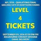 #Ticket  AFL QUALIFYING FINAL GEELONG CATS VS HAWTHORN LEVEL 4 TICKETS FRI 09 SEP #Australia