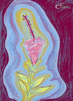 """""""Floraleza"""", Ouka Leele.  Serigrafía. Dimensiones: 31 x 43 cm"""
