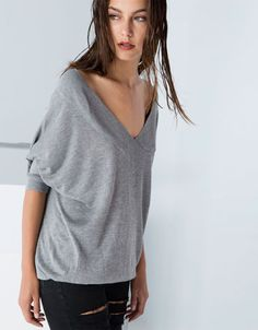 Bershka Switzerland -Bershka 3/4 sleeve jumper