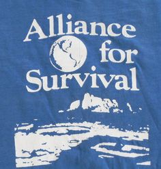 Vintage Tshirt    Alliance for Survival by MY2NDJOB on Etsy