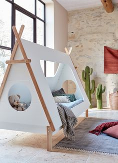 Votre enfant adorera dormir sous ce tipi. Déco - Décoration - Decoration - Maison - Inspiration - Tendance - Enfants - Bébé - Chambre - Chambre enfant - Rangement - Alinea