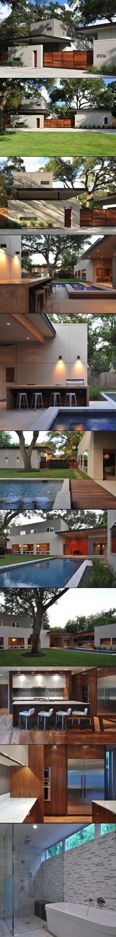 Fachada de patio y exterior