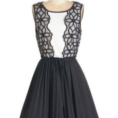 ModCloth Mid-length Sleeveless Fit & Flare Spin onto the Scene Dress