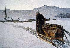 """Return of the Wood"" by Giovanni Segantini"