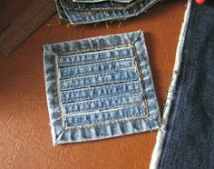 Crochet and Other Stuff: More recycled denim projects