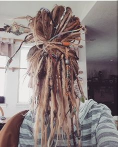 Post from: Tyler Rippy.flower Post from: Tyler Rippy. Half Dreads, Thin Dreads, Partial Dreads, Natural Dreads, Natural Hair, Hippie Dreads, Dreads Girl, Hippie Hair, Blonde Dreadlocks