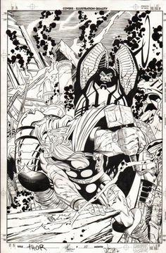 mostly comic art