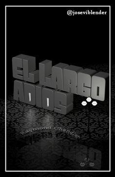 portada novela, cover book, novela negra, el largo adiós, Raymond Chandler, The long goodbye