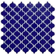 Merola Tile Lantern Mini Glossy Cobalt 10-3/4 in. x 11-1/4 in. Porcelain Mosaic Floor and Wall Tile-FXLLATMC at The Home Depot - I want this for my bathroom!