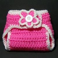 Free Crochet Diaper Cover Pattern. Cute! I like that it will stretch a bit to use longer as child grows. Smart!  I can see in doll size.