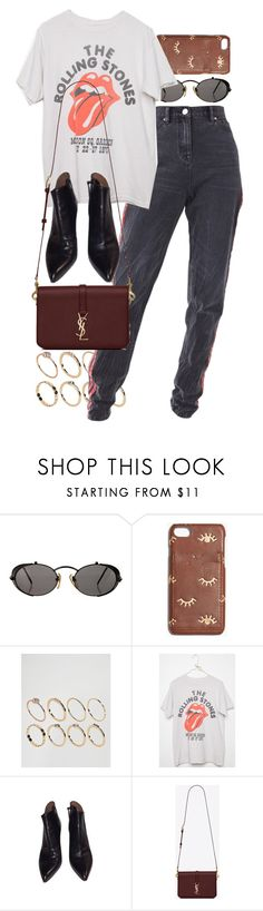"""Untitled #11274"" by nikka-phillips ❤ liked on Polyvore featuring Jean-Paul Gaultier, Madewell, ASOS, Alaïa and Yves Saint Laurent"