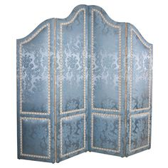 Shop screens and room dividers and other antique and vintage collectibles from the world's best furniture dealers. Bedroom Screens, Upholstered Wall Panels, Folding Screen Room Divider, Dressing Screen, Fabric Room Dividers, Free Standing Wall, Diy Screen Printing, Burgundy And Gold, Small Room Bedroom