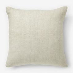"""Silk Handloomed Pillow Cover, 20 """" Stone White - Special $30 (less 20% is $24) + insert special $11 (less 20% is $8.80)"""