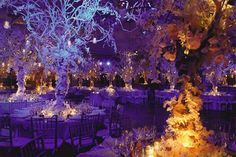 Purple Wedding Flowers this looks like you're in an enchanted forest, not a wedding.love it - Browse décor from real weddings, get floral arrangement inspiration, and more wedding decorating tips from the experts at BridalGuide Winter Wedding Colors, Purple Wedding, Wedding Flowers, Dream Wedding, Winter Wonderland Wedding Theme, Snow Wedding, Wedding Cars, Perfect Wedding, Wedding Themes