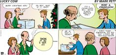 Someone waited a little too long to go #Christmas shopping...   Read Lucky Cow #comics @ www.gocomics.com/luckycow/2014/12/21?utm_source=pinterest&utm_medium=socialmarketing&utm_campaign=social-pin   #GoComics #webcomic #gift