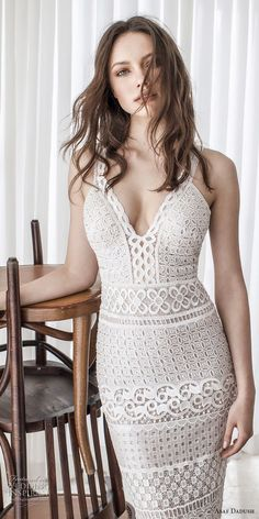 asaf dadush 2017 bridal sleeveless with strap deep sweetheart neckline full embellishment elegant sexy fit and flare sheath wedding dress sweep train (04) mv