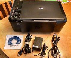 HP Deskjet F4580 All In One Wireless Inkjet Printer w/ power supply cord & CD